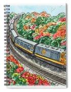 Hop On A Train Spiral Notebook