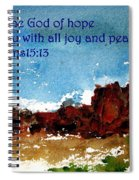 Hope Joy And Peace Spiral Notebook
