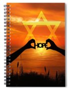 Hope - Painted Spiral Notebook
