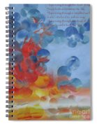 Hope Rising - With Poem Spiral Notebook