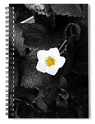 Hope Tucked Away In The Petals  Spiral Notebook