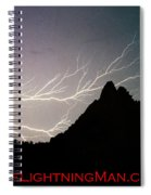 Horizonal Lightning Poster Spiral Notebook