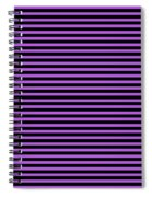 Horizontal Black Outside Stripes 30-p0169 Spiral Notebook