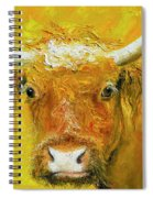 Horned Cow Painting Spiral Notebook