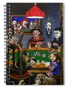 Horror Card Game Spiral Notebook