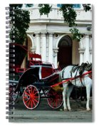 Horse And Buggy In Havana Spiral Notebook