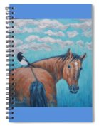 Horse And Magpie Spiral Notebook