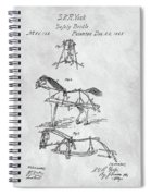 Horse Bridle Patent Spiral Notebook