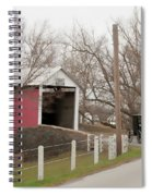 Horse Buggy And Covered Bridge Spiral Notebook