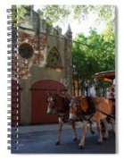 Horse Carriage At Kings Street Spiral Notebook