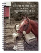 Horse Crazy Quote Spiral Notebook