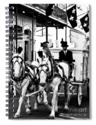 Horse Drawn Funeral Carriage Spiral Notebook