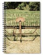 Horse Drawn Hay Rake Aged Spiral Notebook