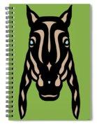 Horse Face Rick - Horse Pop Art - Greenery, Hazelnut, Island Paradise Blue Spiral Notebook