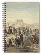 Horse Fair On Bruntsfield Links, Edinburgh Spiral Notebook