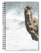 Horse In The Storm - Parallel Hatching Spiral Notebook