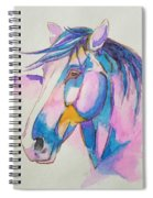 Horse In Pink  Spiral Notebook