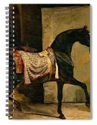 Horse Leaving A Stable Spiral Notebook