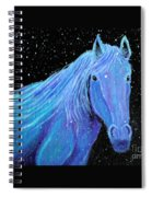 Horse-midnight Snow Spiral Notebook