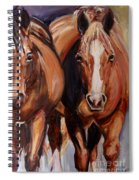 Horse Oil Painting Spiral Notebook