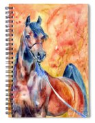 Horse On The Orange Background Spiral Notebook