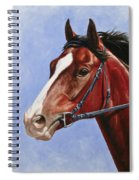 Horse Painting - Determination Spiral Notebook