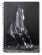 Horse Running Along The Shore Spiral Notebook