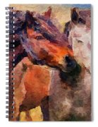 Horse Snuggle Spiral Notebook