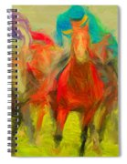 Horse Tracking Spiral Notebook