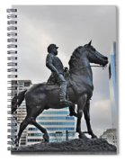 Horseman Between Sky Scrapers Spiral Notebook