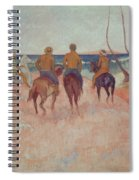 Horseman On The Beach Spiral Notebook