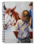 Horses And Children Painting Spiral Notebook