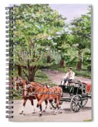 Horses And Wagon Spiral Notebook