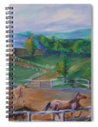 Horses At Gettysburg Spiral Notebook