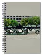 Horses At William Square  Spiral Notebook