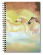 Horses In A Pearly Mist Spiral Notebook