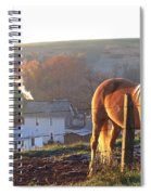 Horses In Autumn Frosty Sunrise Spiral Notebook