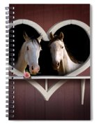 Horses In Stable Spiral Notebook