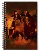 Horses Paintings 34b Spiral Notebook