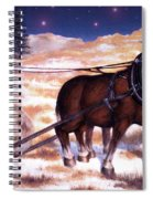 Horses Pulling Log Spiral Notebook