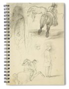 Horses Riders And A Young Man Spiral Notebook