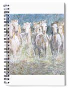 Horses Running In Water Spiral Notebook