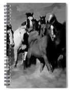 Horses Stampede 01 Spiral Notebook