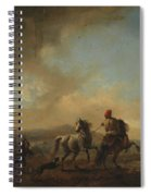 Horses Startled By A Dog Ca Spiral Notebook