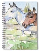 Horses Watercolor Sketch Spiral Notebook