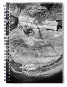 Horseshoe Bend Black White  Spiral Notebook