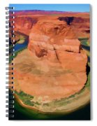 Horseshoe Bend Filters Paint  Spiral Notebook