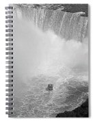 Horseshoe Falls Black And White Spiral Notebook