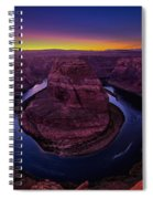 Horseshoe Sunset Spiral Notebook