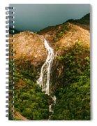 Horsetail Falls In Queenstown Tasmania Spiral Notebook